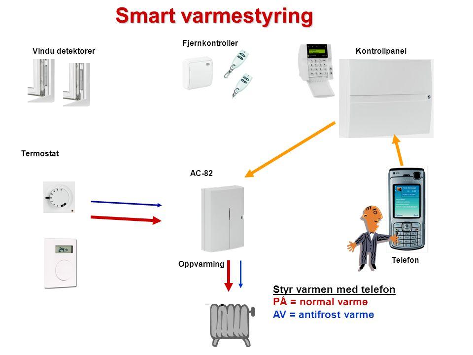 Enkel varmestyring Termostat AC-82 Radio Kabel Termostaten er innrullert mot en AC-82 mottaker