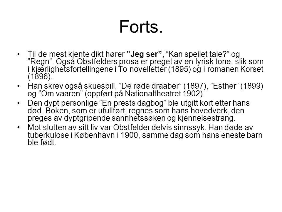 Om Navnløs (1893) •Dersom diktet Navnløs hadde blitt publisert i 1997, ville litteraturkritikerne sannsynligvis ha slaktet det i •unison enighet.
