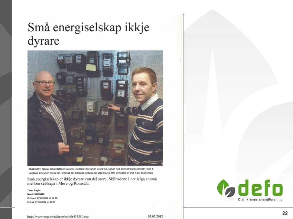 25.06.2014Defo – Distriktenes energiforening22