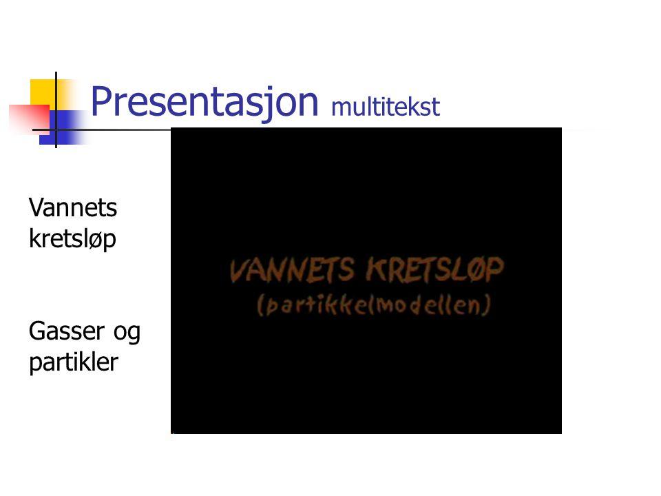 Presentasjon multitekst Vannets kretsløp Gasser og partikler