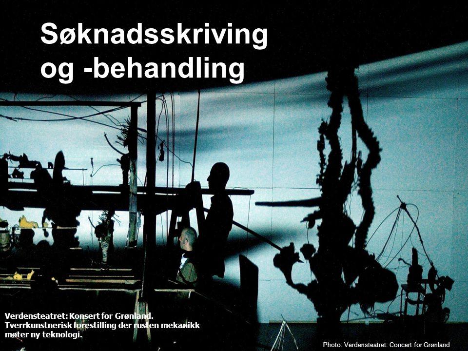 Norsk kulturråd Photo: Verdensteatret: Concert for Grønland Verdensteatret: Konsert for Grønland. Tverrkunstnerisk forestilling der rusten mekanikk mø