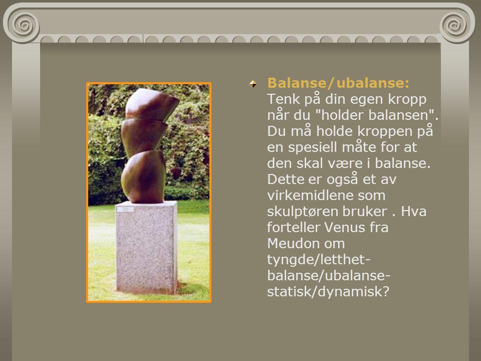 Balanse/ubalanse: Tenk på din egen kropp når du holder balansen .