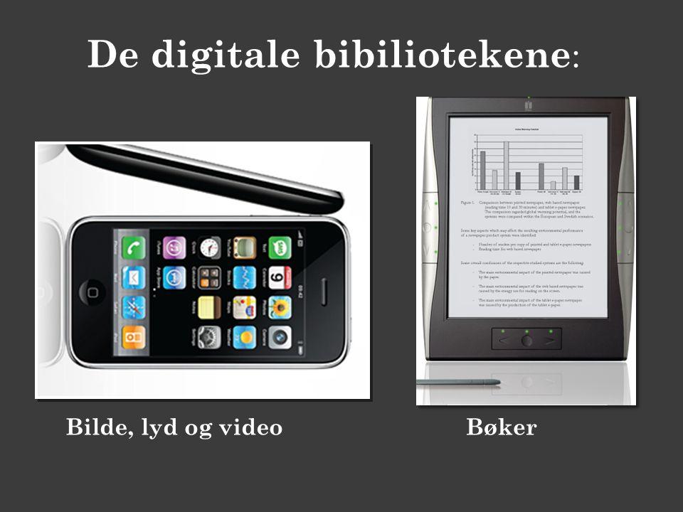 De digitale bibiliotekene : Bilde, lyd og videoBøker