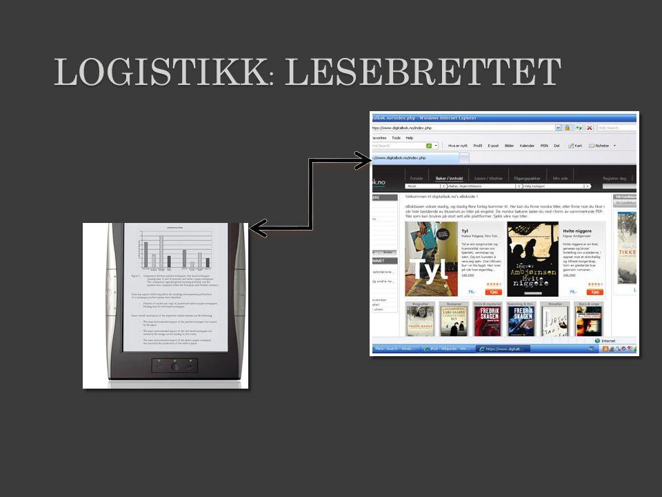 LOGISTIKK : LESEBRETTET