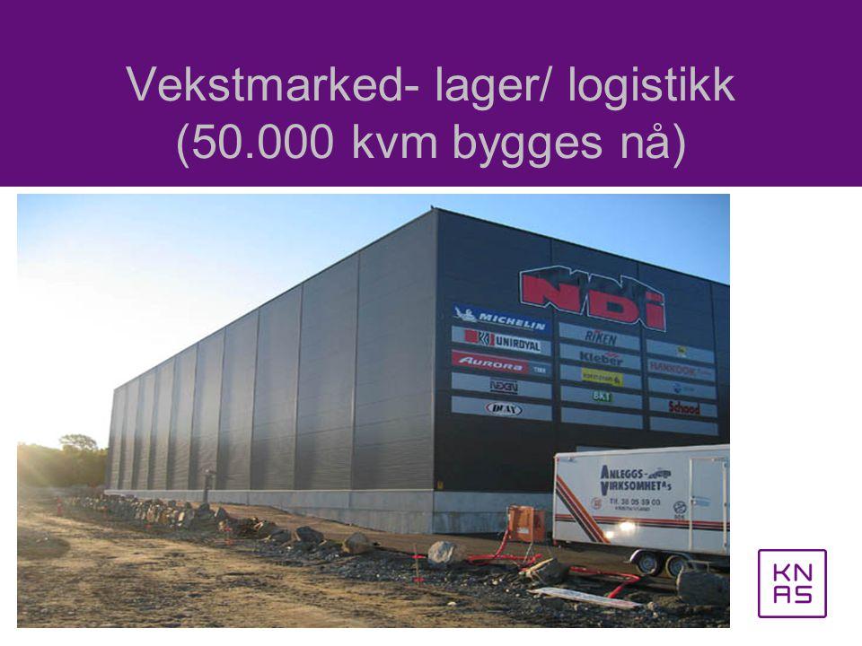 Vekstmarked- lager/ logistikk (50.000 kvm bygges nå)