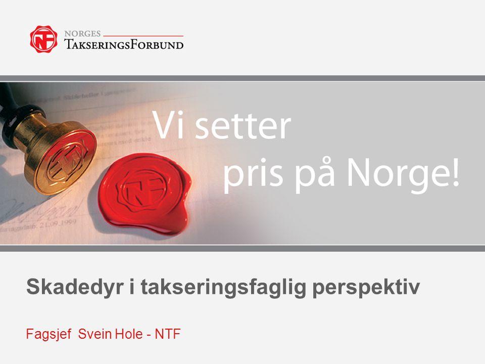 Skadedyr i takseringsfaglig perspektiv Fagsjef Svein Hole - NTF