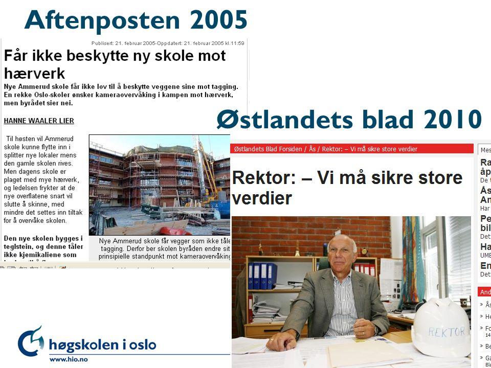 Aftenposten 2005 Østlandets blad 2010