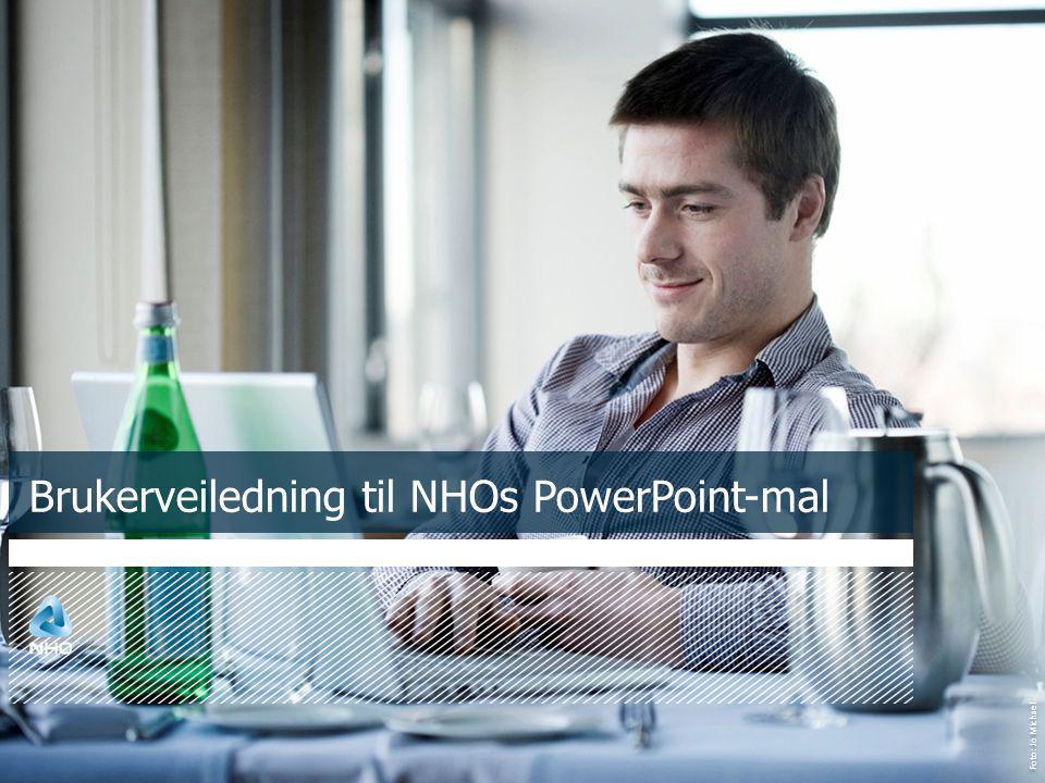 Foto: Jo Michael Brukerveiledning til NHOs PowerPoint-mal