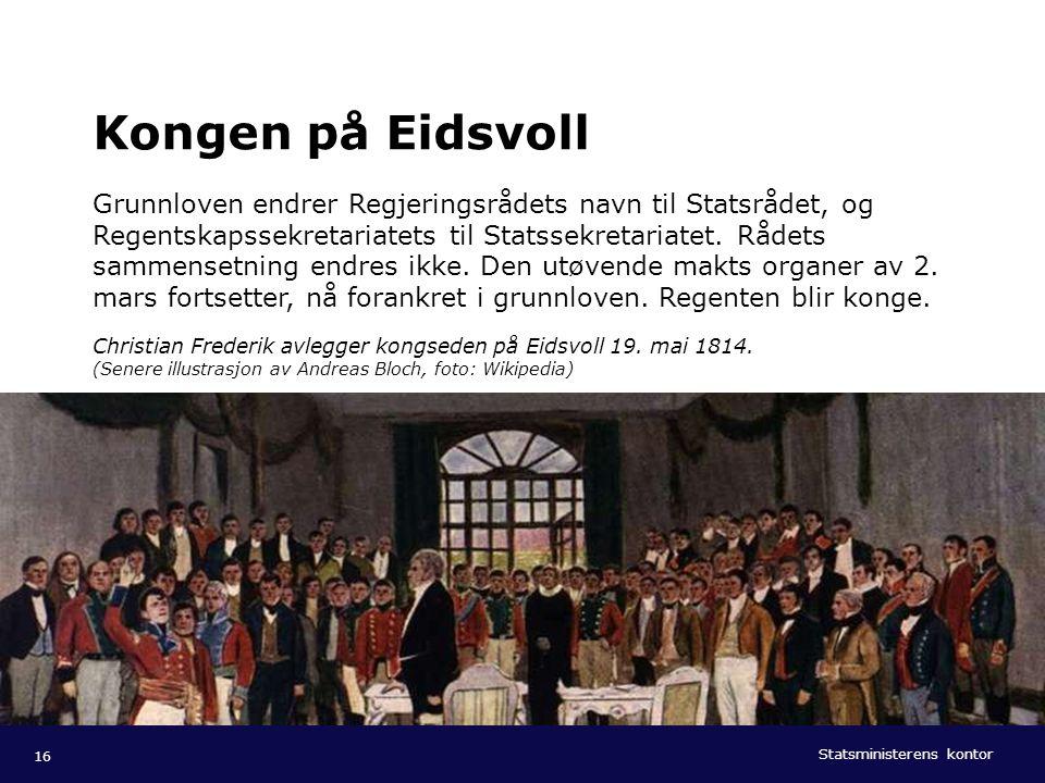 Statsministerens kontor Norsk mal: Tekst med liggende bilde Tips bilde: Bildestørrelse kan forandres ved å dra i bilderammen eller høyreklikke på ramm