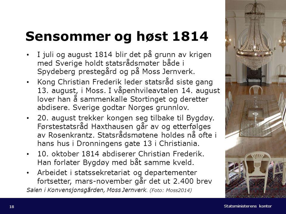 Statsministerens kontor Norsk mal: Tekst med kulepunkter - 1 vertikalt bilde Tips bilde: For best oppløsning anbefales jpg og png- format. Sensommer o
