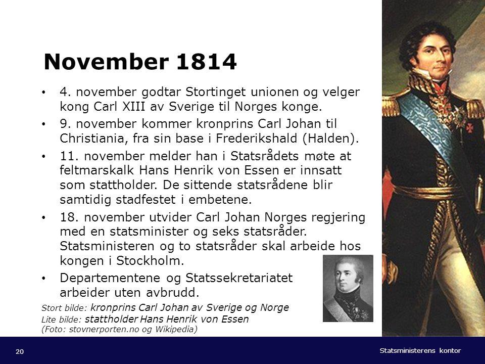 Statsministerens kontor Norsk mal: Tekst med kulepunkter - 1 vertikalt bilde Tips bilde: For best oppløsning anbefales jpg og png- format. November 18