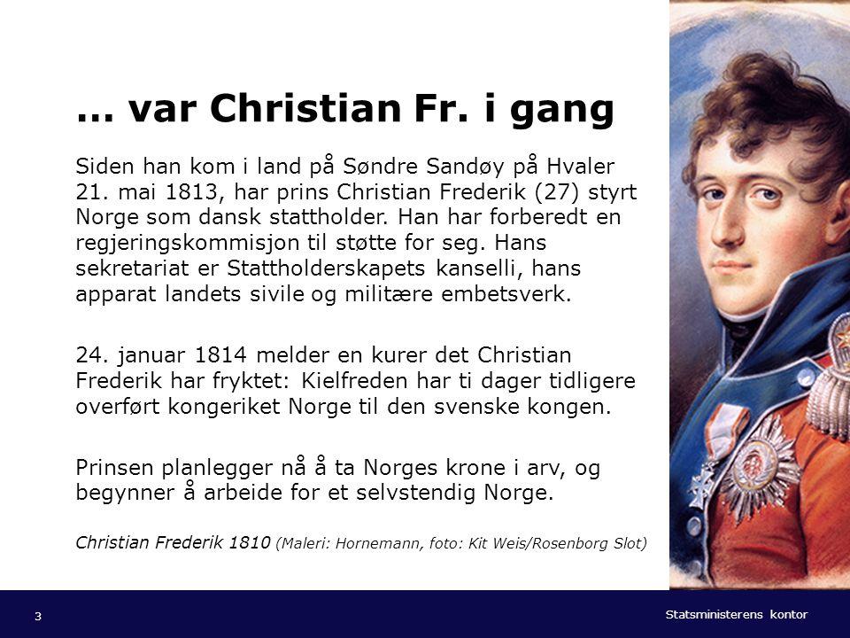 Statsministerens kontor Norsk mal: Tekst med kulepunkter - 1 vertikalt bilde Tips bilde: For best oppløsning anbefales jpg og png- format. … var Chris