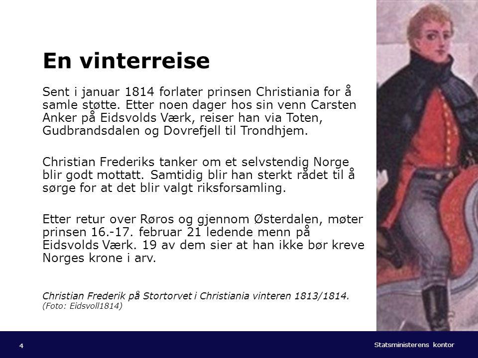 Statsministerens kontor Norsk mal: Tekst med kulepunkter - 1 vertikalt bilde Tips bilde: For best oppløsning anbefales jpg og png- format. En vinterre