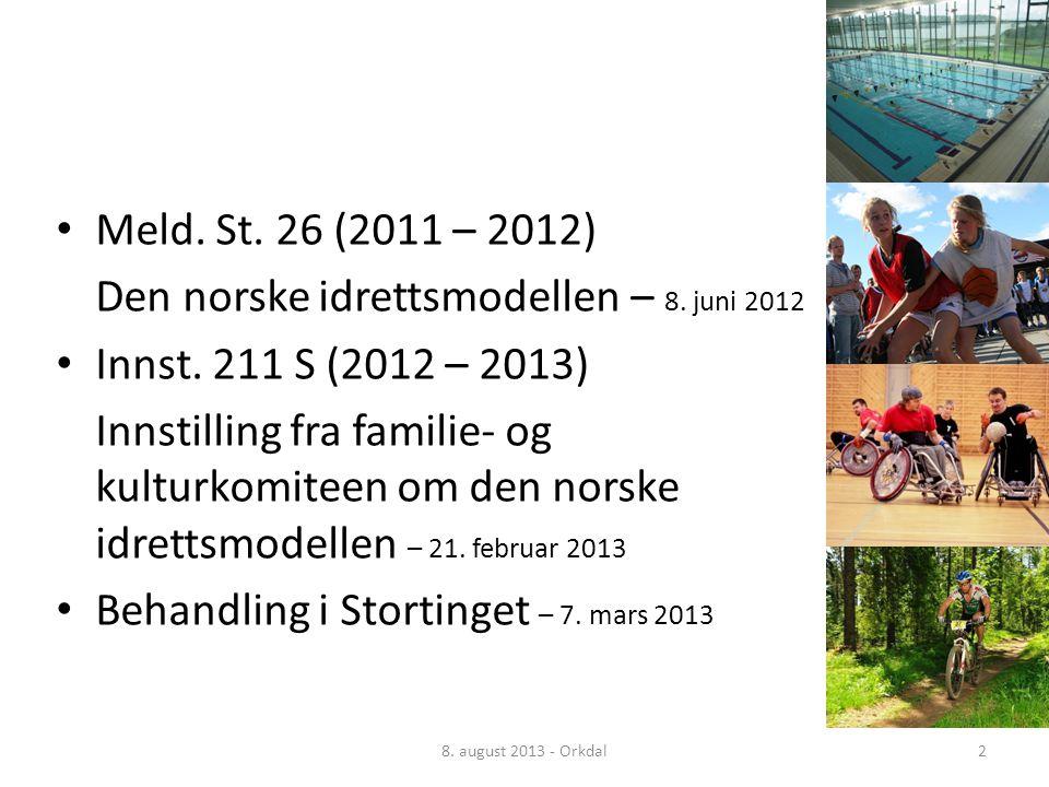 Norsk mal: Tekst med kulepunkter – 4 vertikale bilder • Meld.