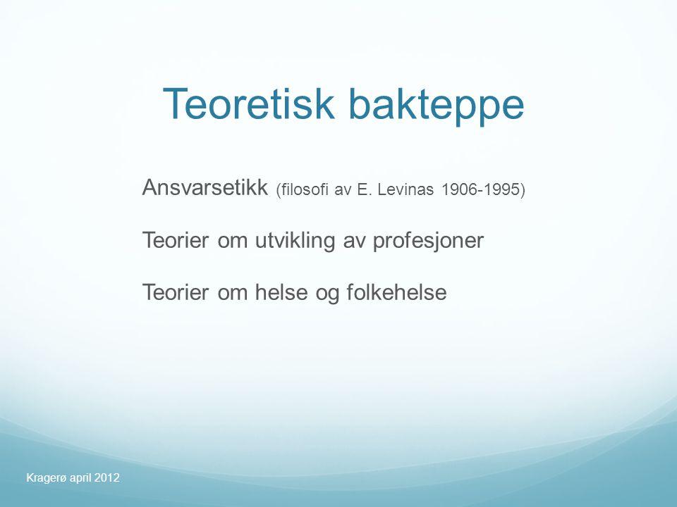 Teoretisk bakteppe Ansvarsetikk (filosofi av E.
