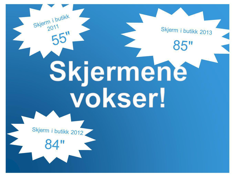 Skjerm i butikk 2011 55 Skjerm i butikk 2013 85 Skjerm i butikk 2012 84