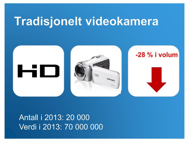 Antall i 2013: 20 000 Verdi i 2013: 70 000 000