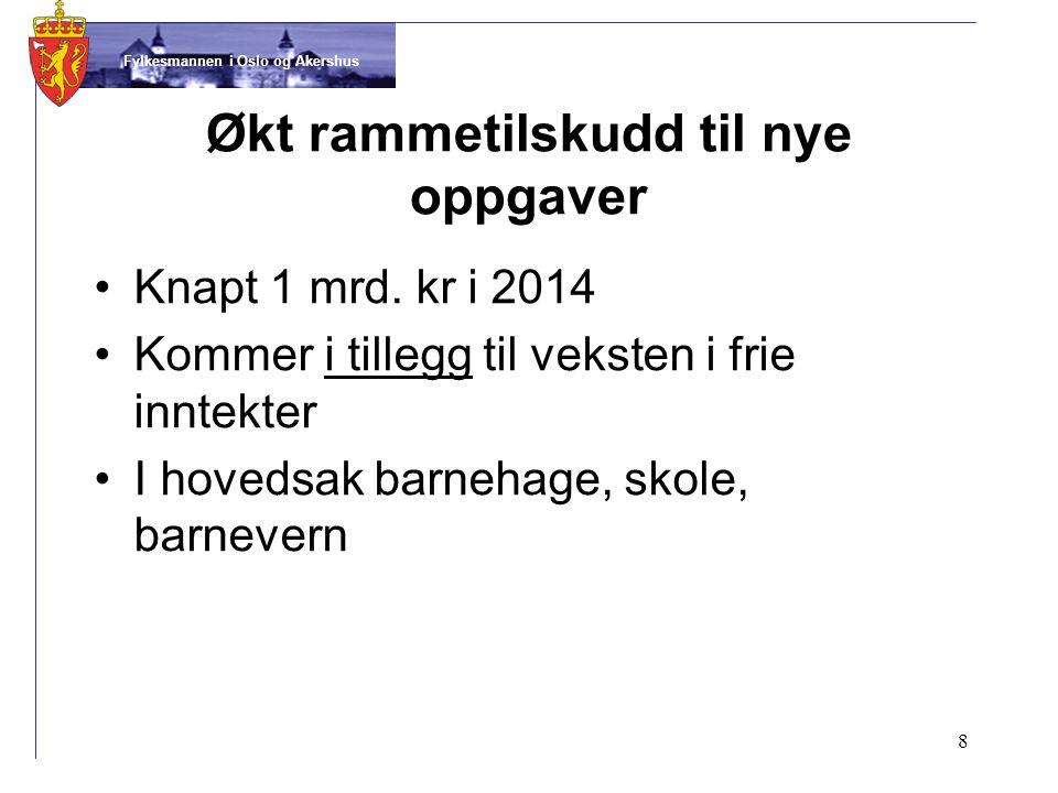 Fylkesmannen i Oslo og Akershus •Knapt 1 mrd.