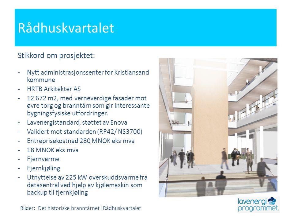 Rådhuskvartalet Stikkord om prosjektet: -Nytt administrasjonssenter for Kristiansand kommune -HRTB Arkitekter AS -12 672 m2, med verneverdige fasader