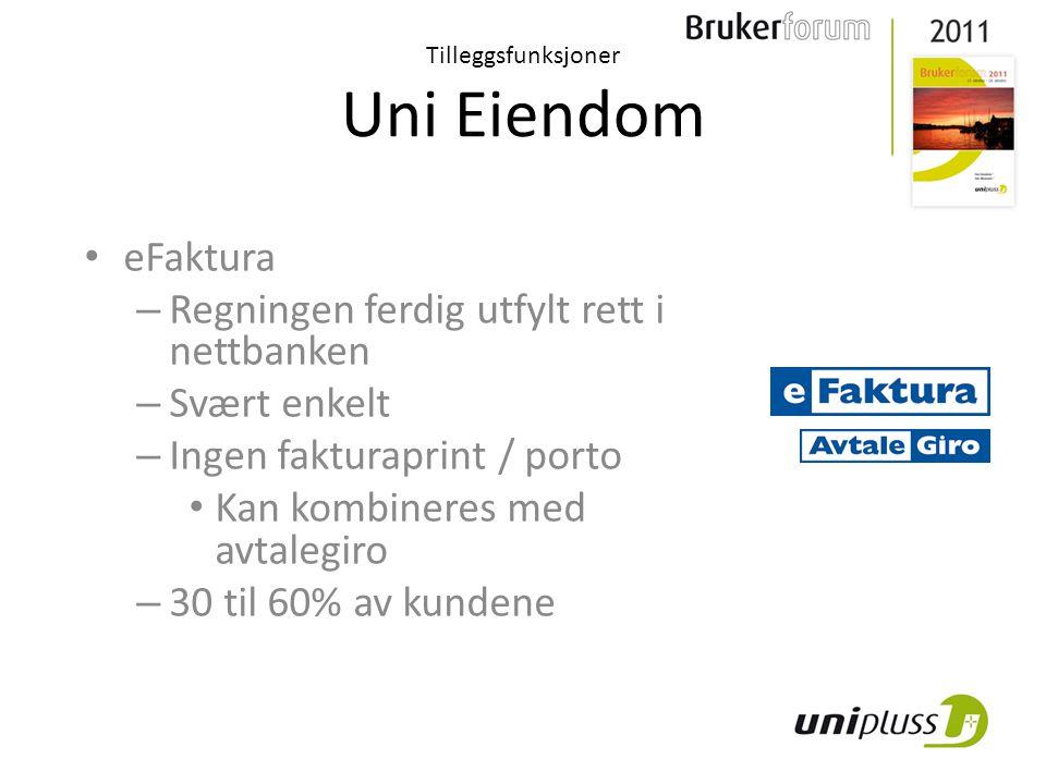 Uni Eiendom Studentbolig Tilleggsfunksjoner For mer effektiv utnyttelse av hovedprodukt