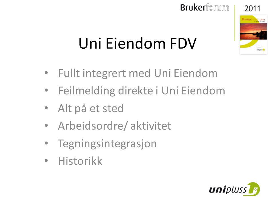 Uni Eiendom FDV Forvaltning Drift Vedlikehold 14 organisasjoner bruker Uni FDV