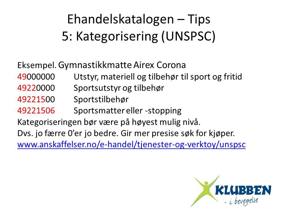 Eksempel. Gymnastikkmatte Airex Corona 49000000Utstyr, materiell og tilbehør til sport og fritid 49220000Sportsutstyr og tilbehør 49221500Sportstilbeh