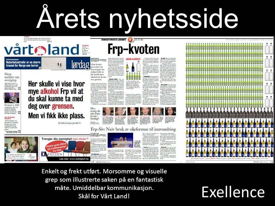 Exellence Årets nyhetsside Enkelt og frekt utført.