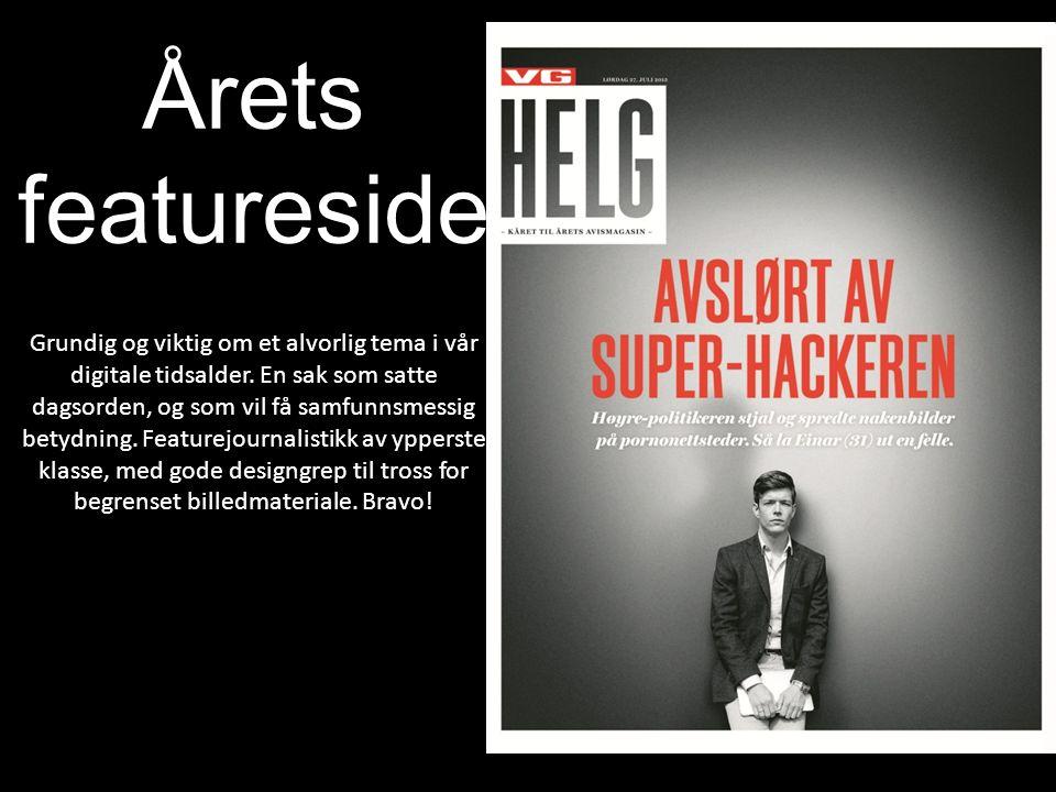 Årets featureside Grundig og viktig om et alvorlig tema i vår digitale tidsalder.