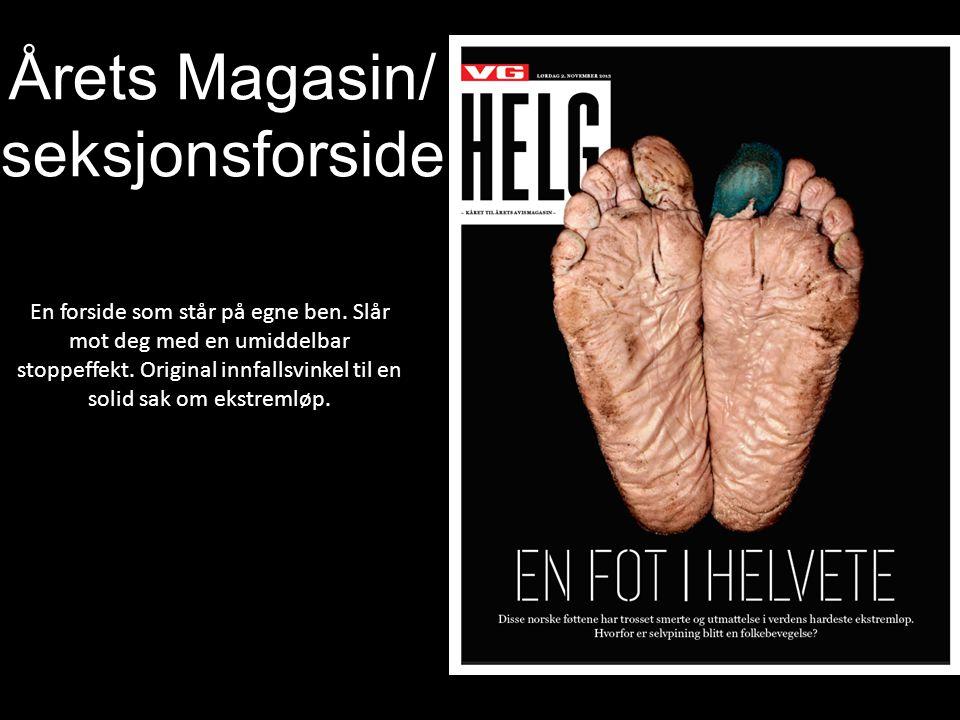 Årets Magasin/ seksjonsforside En forside som står på egne ben.