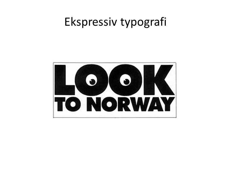 Ekspressiv typografi