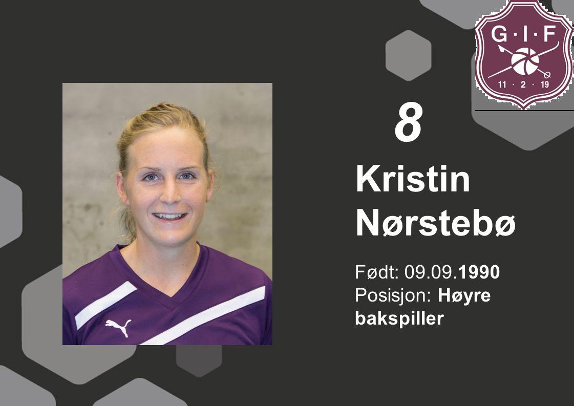 Født: 23.01.1995 Posisjon: Høyre bakspiller/kantspiller Rikke Klausen 9