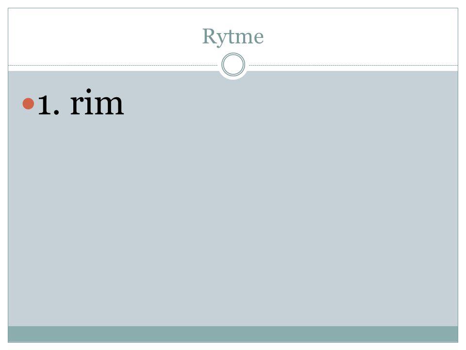 Rytme  1. rim