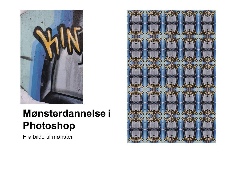 Mønsterdannelse i Photoshop Fra bilde til mønster
