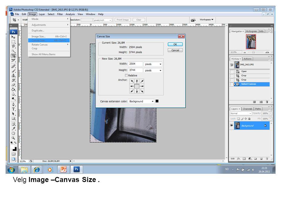 For å definere mønsterelementet i programmet: Edit – Define Pattern