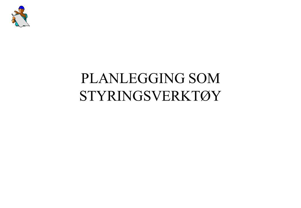 PLANLEGGING SOM STYRINGSVERKTØY