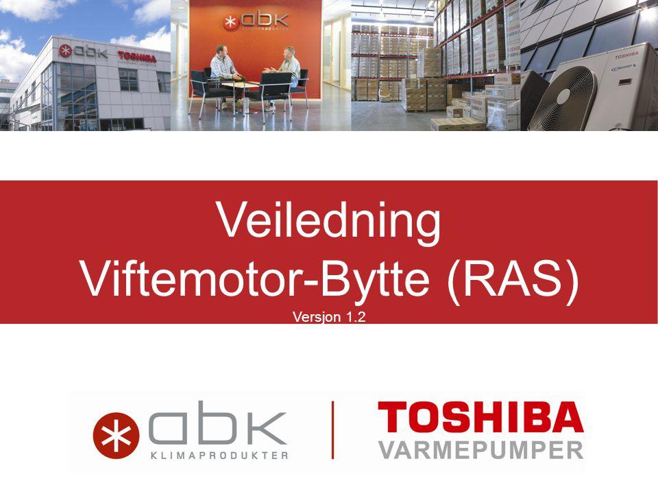 Veiledning Viftemotor-Bytte (RAS) Versjon 1.2