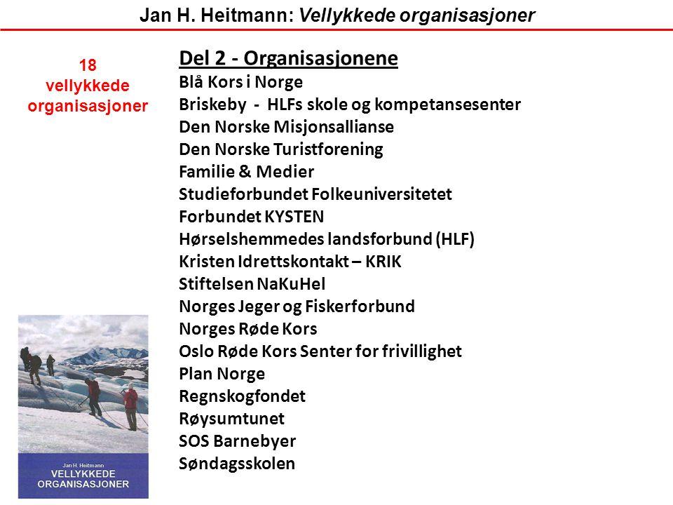 Del 2 - Organisasjonene Blå Kors i Norge Briskeby - HLFs skole og kompetansesenter Den Norske Misjonsallianse Den Norske Turistforening Familie & Medi