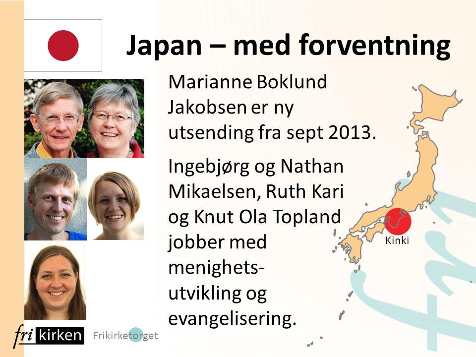 Frikirketorget Marianne Boklund Jakobsen er ny utsending fra sept 2013. Ingebjørg og Nathan Mikaelsen, Ruth Kari og Knut Ola Topland jobber med menigh
