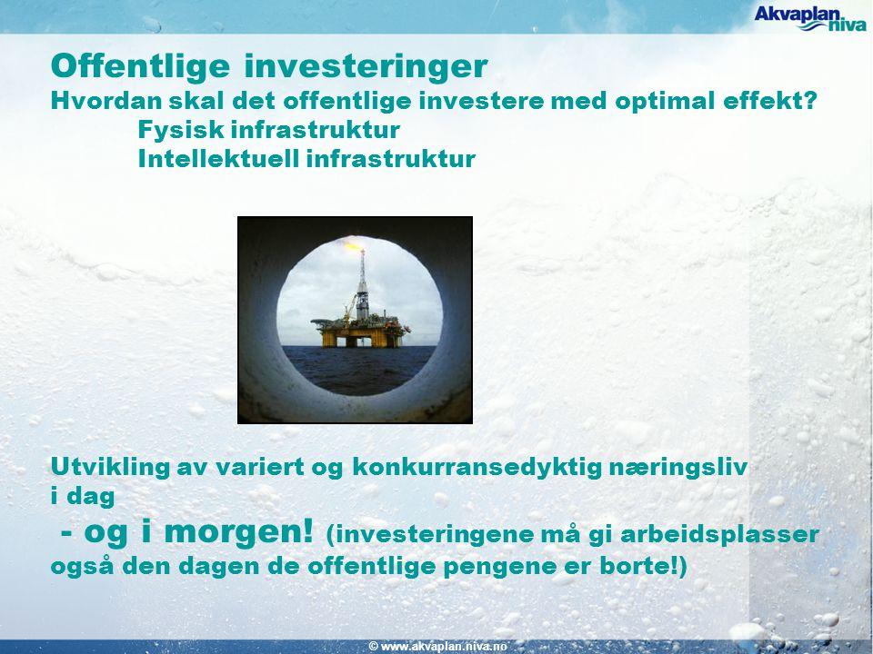 © www.akvaplan.niva.no Offentlige investeringer Hvordan skal det offentlige investere med optimal effekt.