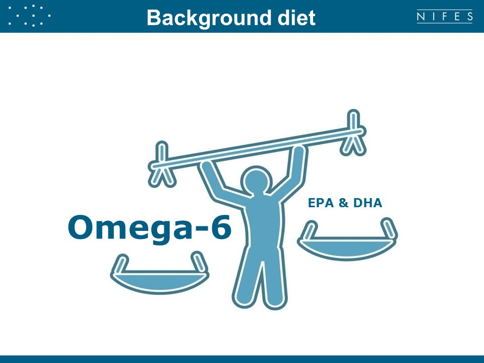 Omega-6 EPA & DHA Background diet