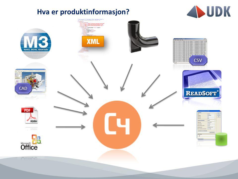 Hva er produktinformasjon CSV CAD