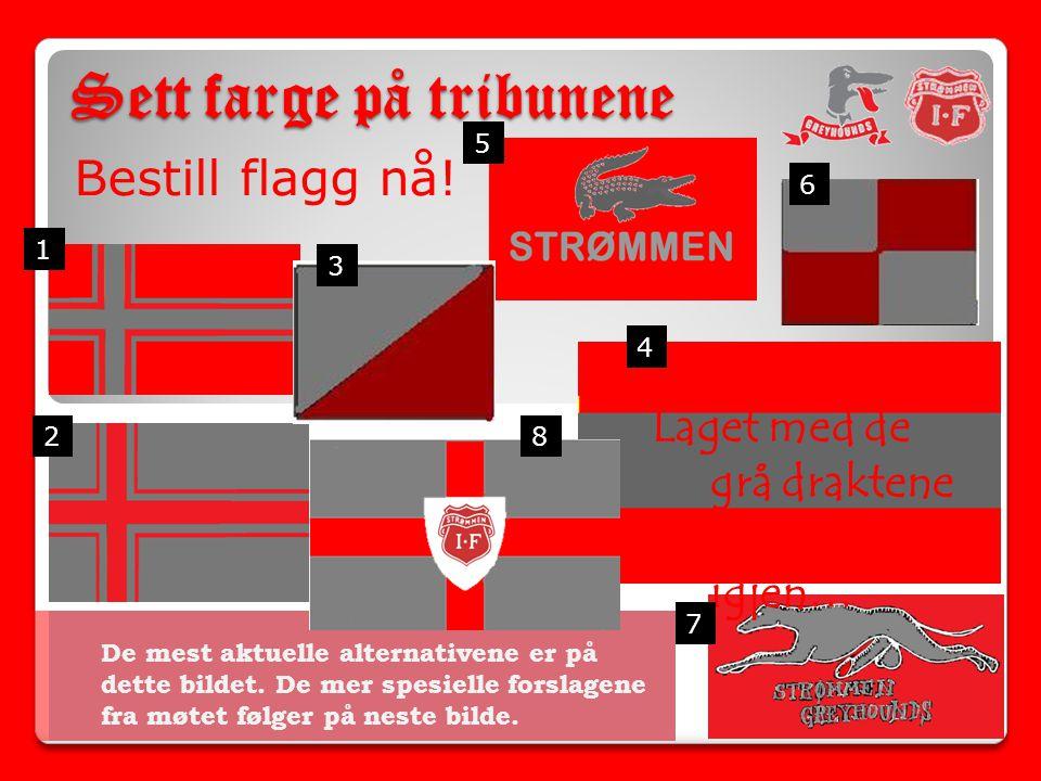 Sett farge på tribunene Bestill flagg nå.De mest aktuelle alternativene er på dette bildet.