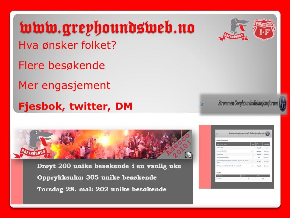 www.greyhoundsweb.no Hva ønsker folket.