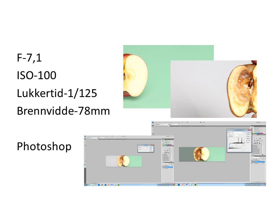 F-7,1 ISO-100 Lukkertid-1/125 Brennvidde-78mm Photoshop