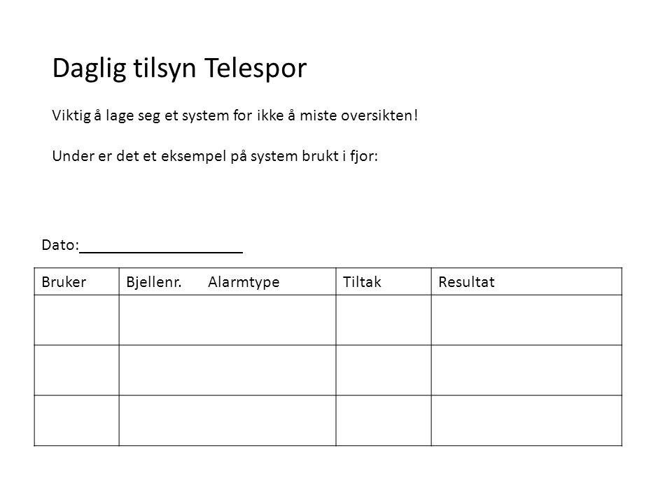 Daglig tilsyn Telespor Viktig å lage seg et system for ikke å miste oversikten.