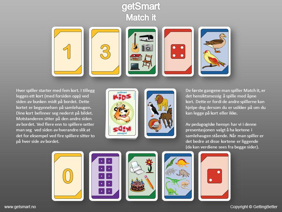 Hver spiller starter med fem kort.