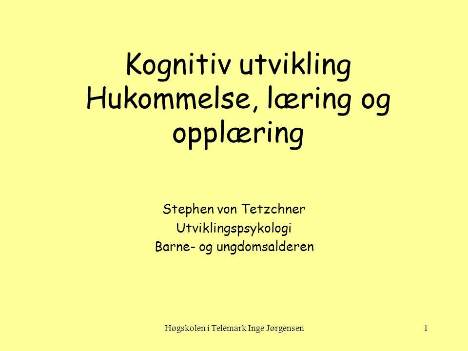 Høgskolen i Telemark Inge Jørgensen12 Læring – Klassisk betinging •En ubetinget stimulus (f.eks.