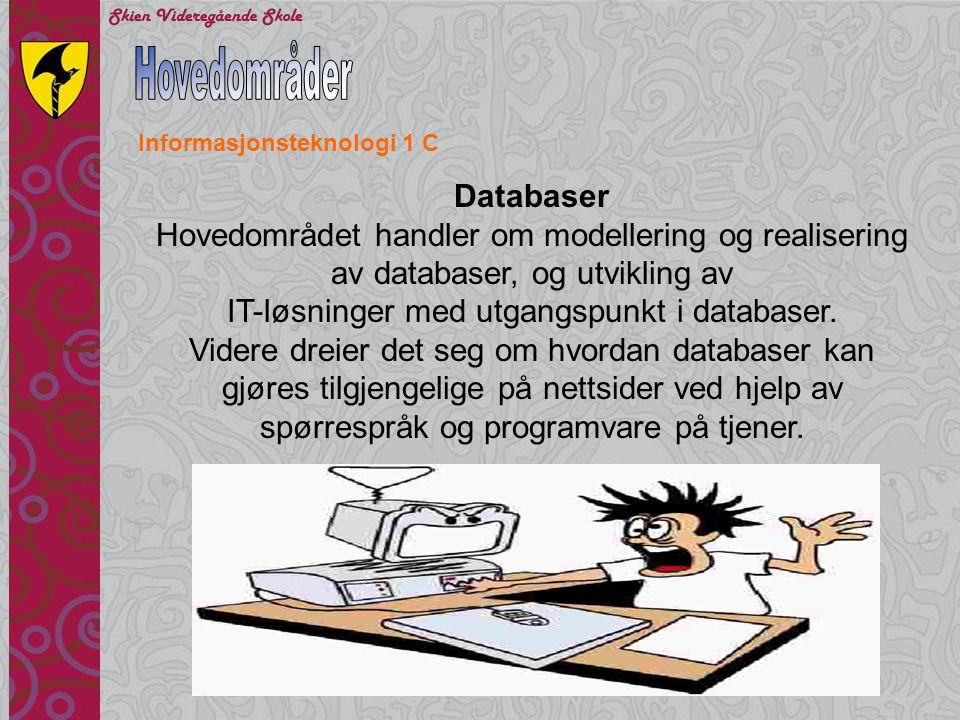 Informasjonsteknologi programfag Bestemmelser for sluttvurdering: Standpunktvurdering ProgramfagOrdning Informasjonsteknologi 1Elevene skal ha standpunktkarakter.