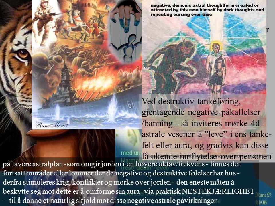Jorden har to ÅNDELIGE bevissthetspoler - en for lengselen mot materien (mørket) og en for lengselen mot det åndelige - (lyset).