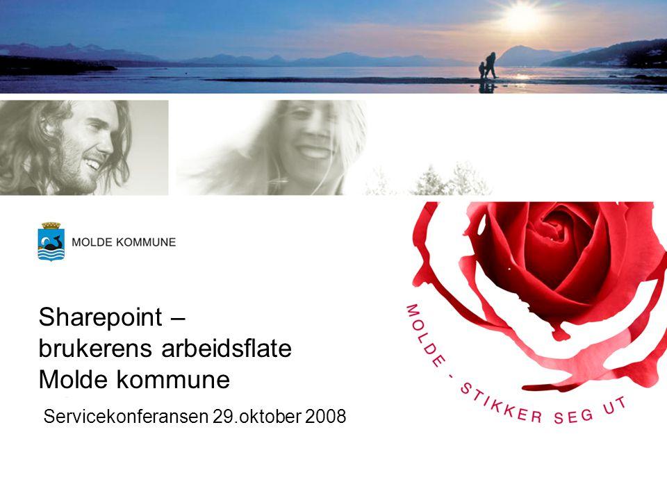 Sharepoint – brukerens arbeidsflate Molde kommune Servicekonferansen 29.oktober 2008